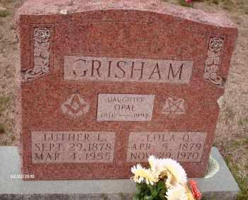 GRISHAM, LOLA OLETA - Texas County, Missouri | LOLA OLETA GRISHAM - Missouri Gravestone Photos