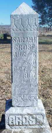 GROSE, SARAH P. - Texas County, Missouri | SARAH P. GROSE - Missouri Gravestone Photos