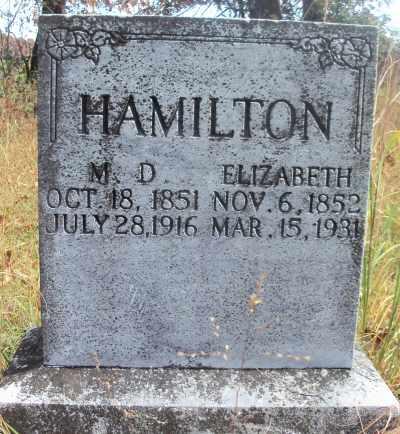 TUCKER HAMILTON, ELIZABETH - Texas County, Missouri | ELIZABETH TUCKER HAMILTON - Missouri Gravestone Photos