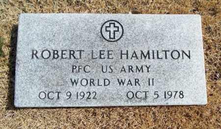 HAMILTON, ROBERT LEE VETERAN WWII - Texas County, Missouri   ROBERT LEE VETERAN WWII HAMILTON - Missouri Gravestone Photos