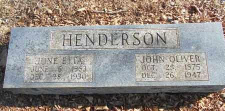 HENDERSON, JUNE ETTA - Texas County, Missouri | JUNE ETTA HENDERSON - Missouri Gravestone Photos