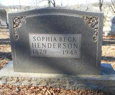 HENDERSON, SOPHIA ELLA - Texas County, Missouri | SOPHIA ELLA HENDERSON - Missouri Gravestone Photos