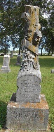 HENDERSON, THOMAS J. - Texas County, Missouri   THOMAS J. HENDERSON - Missouri Gravestone Photos