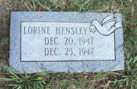HENSLEY, LORINE - Texas County, Missouri | LORINE HENSLEY - Missouri Gravestone Photos