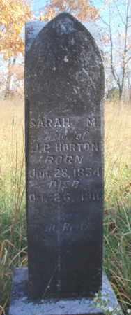 BAILEY HORTON, SARAH MARGARETT - Texas County, Missouri | SARAH MARGARETT BAILEY HORTON - Missouri Gravestone Photos