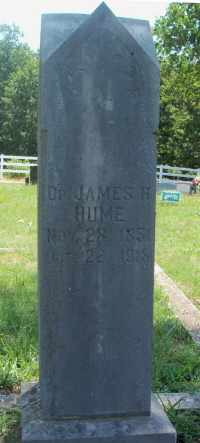 HUME, JAMES H. DR. - Texas County, Missouri | JAMES H. DR. HUME - Missouri Gravestone Photos