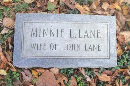 LANE, MINNIE L. - Texas County, Missouri | MINNIE L. LANE - Missouri Gravestone Photos
