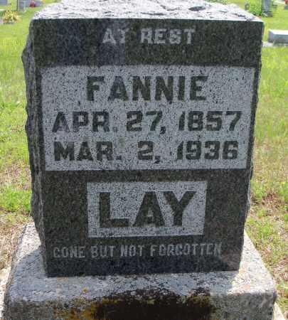 LAY, FANNIE - Texas County, Missouri | FANNIE LAY - Missouri Gravestone Photos