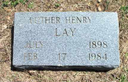 LAY, LUTHER HENRY - Texas County, Missouri | LUTHER HENRY LAY - Missouri Gravestone Photos