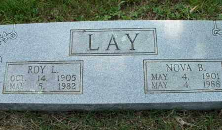 LAY, NOVA B. - Texas County, Missouri | NOVA B. LAY - Missouri Gravestone Photos