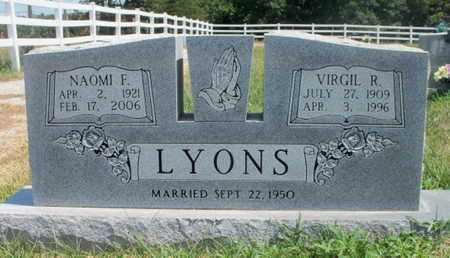 MORGAN LYONS, NAOMI F. - Texas County, Missouri | NAOMI F. MORGAN LYONS - Missouri Gravestone Photos