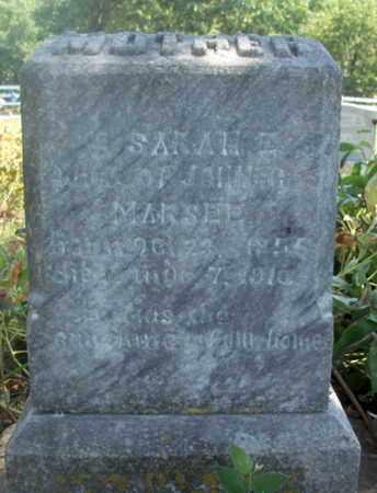 MARSEE, SARAH ELIZABETH - Texas County, Missouri | SARAH ELIZABETH MARSEE - Missouri Gravestone Photos
