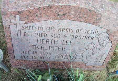 MCALISTER, HEATH LEE - Texas County, Missouri | HEATH LEE MCALISTER - Missouri Gravestone Photos