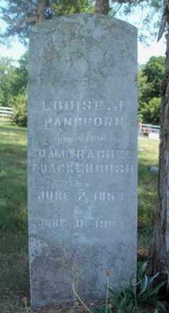 PANGBORN, LOUISE J. - Texas County, Missouri | LOUISE J. PANGBORN - Missouri Gravestone Photos