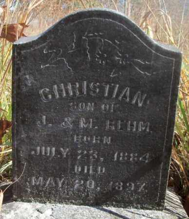 REHM, CHRISTIAN - Texas County, Missouri   CHRISTIAN REHM - Missouri Gravestone Photos