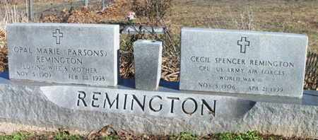 PARSONS REMINGTON, OPAL MARIE - Texas County, Missouri | OPAL MARIE PARSONS REMINGTON - Missouri Gravestone Photos