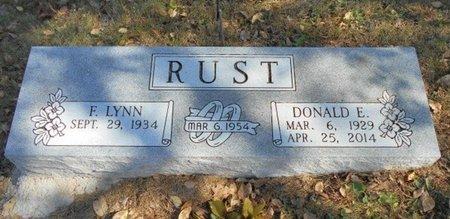 RUST, DONALD EARL - Texas County, Missouri | DONALD EARL RUST - Missouri Gravestone Photos