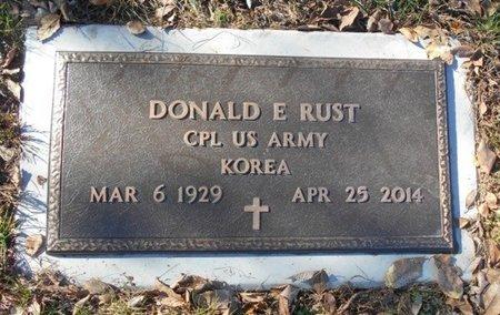 RUST, DONALD E. (VETERAN KOR) - Texas County, Missouri   DONALD E. (VETERAN KOR) RUST - Missouri Gravestone Photos