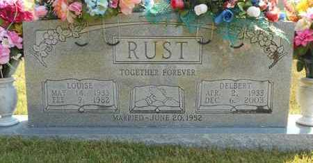 RUST, LOUISE - Texas County, Missouri | LOUISE RUST - Missouri Gravestone Photos