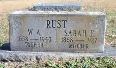 RUST, SARAH E. - Texas County, Missouri | SARAH E. RUST - Missouri Gravestone Photos