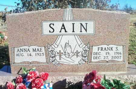 SAIN, FRANK STEVE - Texas County, Missouri | FRANK STEVE SAIN - Missouri Gravestone Photos