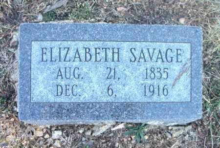 SAVAGE, ELIZABETH - Texas County, Missouri | ELIZABETH SAVAGE - Missouri Gravestone Photos