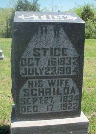 STICE, SCHRILDA - Texas County, Missouri | SCHRILDA STICE - Missouri Gravestone Photos