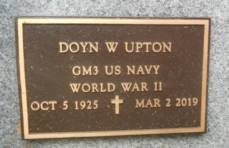 UPTON, DOYN W. VETERAN WWII - Texas County, Missouri | DOYN W. VETERAN WWII UPTON - Missouri Gravestone Photos