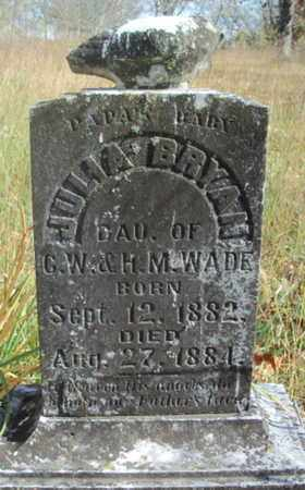 WADE, JULIA BRYAN - Texas County, Missouri | JULIA BRYAN WADE - Missouri Gravestone Photos