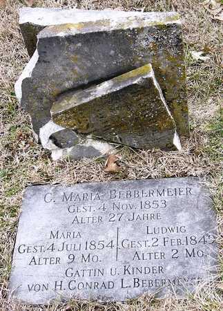 BEBBERMEIER, C. MARIA - Warren County, Missouri | C. MARIA BEBBERMEIER - Missouri Gravestone Photos