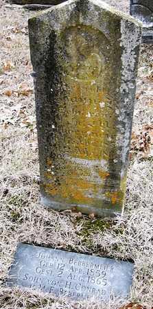 BEBBERMEIER, JOHANN - Warren County, Missouri | JOHANN BEBBERMEIER - Missouri Gravestone Photos