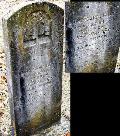 KARRENBROCK BOTE, ANNA MARIA - Warren County, Missouri   ANNA MARIA KARRENBROCK BOTE - Missouri Gravestone Photos