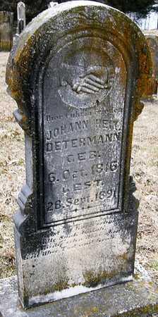 DETERMANN, JOHANN HEINRICH - Warren County, Missouri | JOHANN HEINRICH DETERMANN - Missouri Gravestone Photos