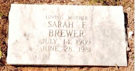 BREWER, SARAH FLOREINE - Washington County, Missouri   SARAH FLOREINE BREWER - Missouri Gravestone Photos
