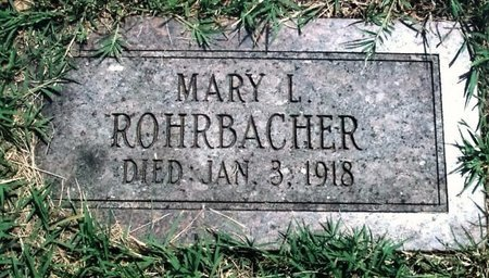 ROHRBACHER, MARY LEVINA - Webster County, Missouri | MARY LEVINA ROHRBACHER - Missouri Gravestone Photos