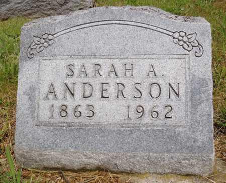 ANDERSON, SARAH A. - Worth County, Missouri   SARAH A. ANDERSON - Missouri Gravestone Photos