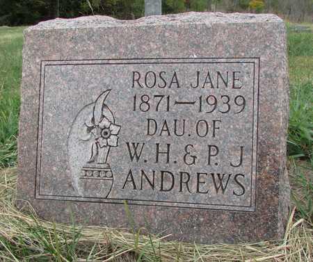 ANDREWS, ROSA JANE - Worth County, Missouri   ROSA JANE ANDREWS - Missouri Gravestone Photos