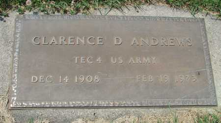 ANDREWS, CLARENCE DALE VETERAN - Worth County, Missouri | CLARENCE DALE VETERAN ANDREWS - Missouri Gravestone Photos