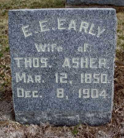 EARLY ASHER, ELIZABETH EUTRIPIA - Worth County, Missouri | ELIZABETH EUTRIPIA EARLY ASHER - Missouri Gravestone Photos