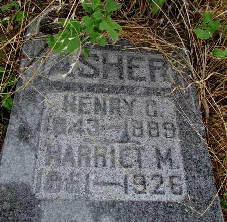 ASHER, HARRIET M. - Worth County, Missouri | HARRIET M. ASHER - Missouri Gravestone Photos