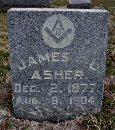 ASHER, JAMES LEWIS - Worth County, Missouri   JAMES LEWIS ASHER - Missouri Gravestone Photos