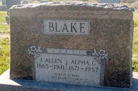 BLAKE, J. ALLEN - Worth County, Missouri   J. ALLEN BLAKE - Missouri Gravestone Photos