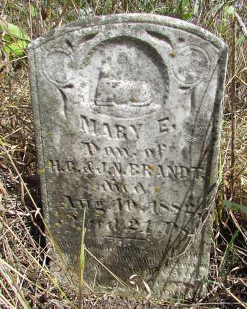 BRANDT, MARY E - Worth County, Missouri   MARY E BRANDT - Missouri Gravestone Photos