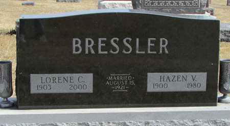 BRESSLER, HAZEN V. - Worth County, Missouri | HAZEN V. BRESSLER - Missouri Gravestone Photos