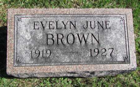 BROWN, EVELYN JUNE - Worth County, Missouri   EVELYN JUNE BROWN - Missouri Gravestone Photos