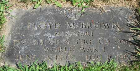 BROWN, FLOYD MCDONALD VETERAN WWI - Worth County, Missouri | FLOYD MCDONALD VETERAN WWI BROWN - Missouri Gravestone Photos