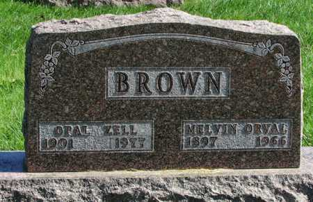 BROWN, MELVIN ORVAL - Worth County, Missouri | MELVIN ORVAL BROWN - Missouri Gravestone Photos