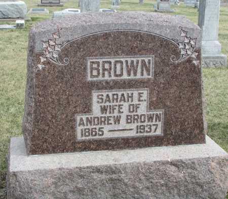 BROWN, SARAH ELIZABETH - Worth County, Missouri | SARAH ELIZABETH BROWN - Missouri Gravestone Photos