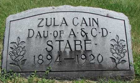 CAIN, ZULA - Worth County, Missouri | ZULA CAIN - Missouri Gravestone Photos