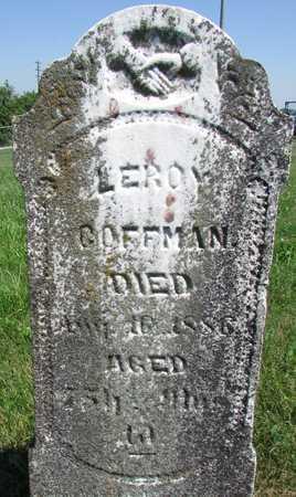 COFFMAN, LEROY - Worth County, Missouri | LEROY COFFMAN - Missouri Gravestone Photos